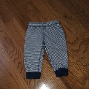 Carters Boys 12M Blue Striped Pants